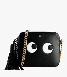 Anya Hindmarch Black  Anya Hindmarch Black Eye Crossbody Bag