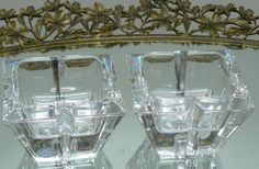 Rosenthal Lead Crystal Candle Holders Set of 2 by almikor on Etsy