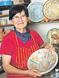 Sarie Maritz Ceramics - slip decorated earthenware - Namibia