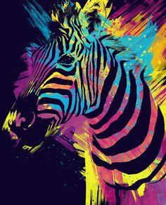 ☆ Zebra Splatters :¦: Art By Olechka ☆