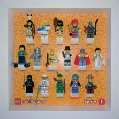 LEGO Minifigures Series 1 fitted in IKEA RIBBA frame