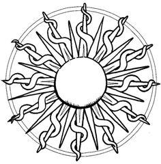 Página para colorir Mandala com Sol. Categorias: Mandalas abstratas. Páginas de colorir imprimíveis gratuitamente para uma variedade de temas que você pode imprimir e colorir.