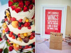 red berries wedding cake