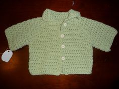 Handmade+3/4+sleeves+Beautiful+Baby+Sweater/jacket+in+by+SueStitch,+$19.99