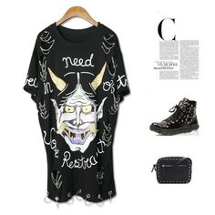 2017 Summer Women Punk Rock T-shirt Character Print Short Sleeve O-Neck Hole long T-shirt  Washed Tees Hip Hop Plus Size Tops