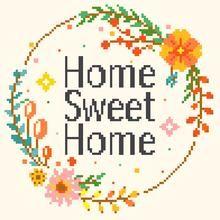 Home Sweet Home Cross Stitch Kit - Quote Cross Stitch Kit                      – Leia Patterns