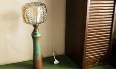 The Socialite Family | Luminaire ancien chez Claire Castillon. #portrait #meet #claire #castillon #writer #écrivain #lesmessieurs #lamp #luminaire #glass #verre #vintage #livingroom #salon #déco #art #home #inspiration #idea #thesocialitefamily