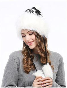 d048470a208 Bienvenu Winter Mongolian Hat Women Russian Style Hat Snowflake Pompom