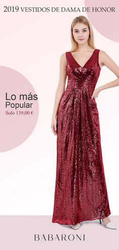 5f567f4a3 ¿Estás buscando lentejuelas para tus damas de honor  El largo vestido se  caracteriza por