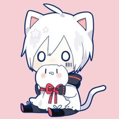 This is so kawaii >w< Dibujos Anime Chibi, Cute Anime Chibi, Kawaii Chibi, Cute Anime Boy, Anime Neko, Anime Kawaii, Anime Art, Neko Boy, Anime Cat Boy