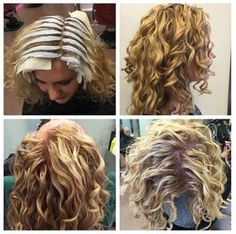 Edward Joseph creating gorgeous color with  at Devachan Broome St… Curly Hair Salon, Curly Hair Tips, Wavy Hair, Curly Hair Styles, Shaggy Hair, Short Permed Hair, Layered Curly Hair, Medium Permed Hairstyles, Shoulder Haircut
