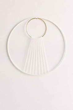 Sonadora Hemp + Brass Eclipse Wall Hanging  Could totally make this