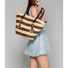 Buy 'yeswalker – Striped Straw Tote' with Free International Shipping at YesStyle.com. Browse and shop for thousands of Asian fashion items from Hong Kong and more!