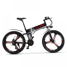 High Quality 26 Inch Folding E-bike, Motor, 21 Speed Electric Bicycle, Hydraulic Disc Brake, Dual Suspension Mountain Bike Prices, Mountain Biking, Folding Electric Bike, Electric Bicycle, Electric Mountain Bike, E Scooter, Cool Items, High Speed, Bicycles