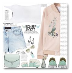 """the bomber summer style"" by licethfashion ❤ liked on Polyvore featuring Alexander Wang, Vince, Louise et Cie, 3.1 Phillip Lim, MANGO, Dot & Bo, Christian Dior, LULUS and bomberjackets"