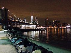 Manhattan as seen from Brooklyn Brooklyn Night, Empire State Of Mind, Manhattan, New York Skyline, Nyc, Travel, Life, Viajes, Traveling