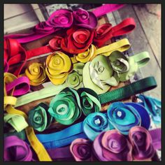 Rainbow flower belt by JDK  Bags and more Made in Italy