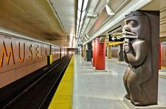 The top 5 public art installations on the TTC. My favourite is Museum Station. #Toronto #art #transit