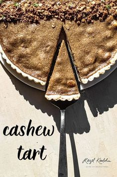 Vegan Cashew Tart with a Taro and Coconut Filling - Rezel Kealoha - Powered by Mom - Filipino desserts Best Vegan Desserts, No Cook Desserts, Vegan Dessert Recipes, Pastry Recipes, Tart Recipes, Holiday Desserts, Sweet Recipes, Delicious Desserts, Buko Pie