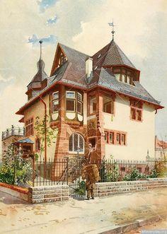 Villa Dr_ Landmann in Darmstadt_ Schiesshofstrasse 108
