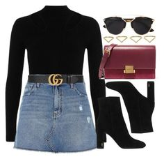 """#13838"" by vany-alvarado ❤ liked on Polyvore featuring River Island, Gucci, Yves Saint Laurent, Christian Dior and Ana Khouri"