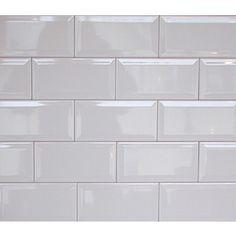 Baby Bevelled White Kitchen Tiles