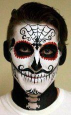 Very Nice Catrin make-up of The day of The dead party.  SLVH