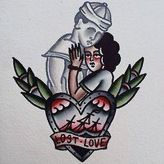 lost love tattoo flash traditional tattoos ivan antonyshev
