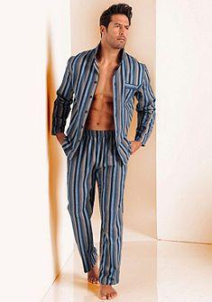 ff4cb71281b8ab H.I.S pizsama Schlafanzug Herren, Bequeme Hosen, Lange Hosen,  Streifenmuster, Oberteile, Wolle