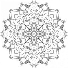 Flower Mandala Coloring Pages #10 – GetColoringPages.org