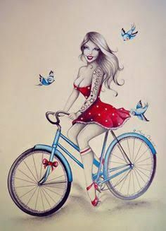 Image result for girl on tricycle tattoo