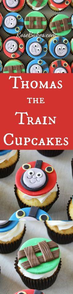 Thomas the Train Cupcakes | RoseBakes.com