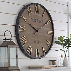 drake industrial wall clock