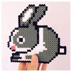 Rabbit hama beads by parcelletdk