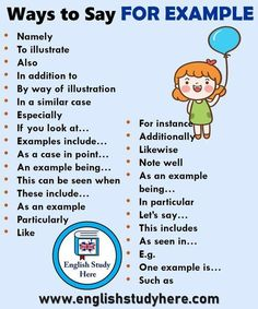 Grammar corner Other Ways to Say  For Example Essay Writing Skills, Book Writing Tips, English Writing Skills, Writing Words, English Lessons, Essay Words, Writing Websites, Writing Topics, Study Skills