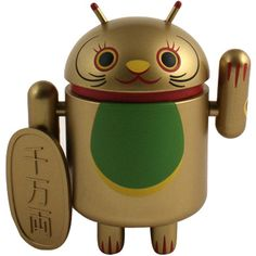 Android Gold Koban Coin Lucky Cat Series Figure (gold) LUKCATGLDKOBCON - $9.99