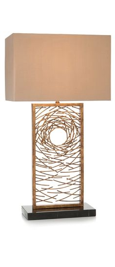 Wonderful Organic Loop Table Lamp, Pale Gold   Porta Romana | Lighting | Pinterest |  Gold, Lights And Living Rooms