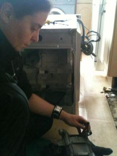 Replacing motor brushes on a washer