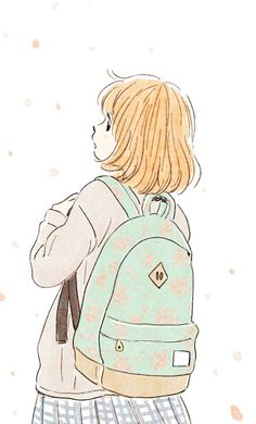 Get you a Backpack that brings you everywhere - Itunohika Cute Illustration, Character Illustration, Anime Art Girl, Manga Art, Backpack Drawing, Kawai Japan, Character Art, Character Design, Wallpaper Fofos
