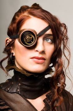 Steam punk with goggles and gorgeous leather Steampunk Cosplay, Viktorianischer Steampunk, Steampunk Goggles, Steampunk Design, Steampunk Clothing, Steampunk Fashion, Steampunk Emporium, Steampunk Outfits, Steampunk Gadgets