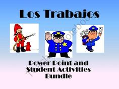 Spanish-Los Trabajos Presentation and student worksheets from Spanish Classroom on TeachersNotebook.com (30 pages)