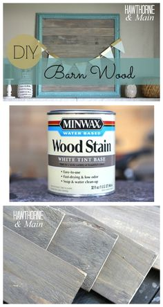 Have you ever wanted to use barn wood but couldn't find any. This is a great tutorial for making your own. It's seems pretty easy!!!