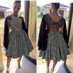 I really like traditional african fashion 5965106832 Seshweshwe Dresses, African Prom Dresses, Latest African Fashion Dresses, African Print Fashion, Africa Fashion, African Dress, Ankara Fashion, African Wear, African Prints