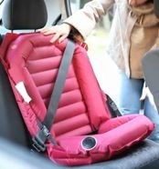 Easycarseat is an inflatable car seat and is designed for children ages 3 and up.