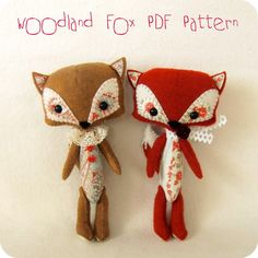 Woodland Fox pdf Pattern Instant Download di Gingermelon su Etsy