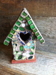 Mosaic Garden Birdhouse