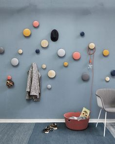 Buy The Dots Coat Hook from Muuto. The Muuto Dots Coat Hooks are produced from high quality wood. The Muuto Dot Coat hooks' sculptured design can be arr. Wooden Coat Hooks, Entryway Coat Hooks, Modern Furniture, Home Furniture, Wall Hooks, Scandinavian Design, Sweet Home, Dots, House Design