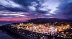 Ventura County Fair at dusk.