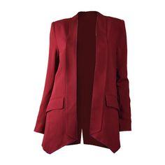 Mason Wine Shawl Collar Jacket ($484) ❤ liked on Polyvore