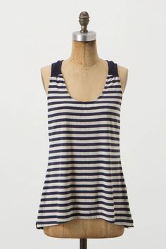 Undergrowth Tank - Anthropologie.com...Comes in 4 colours (Green, Blue, Brown, Red Motif) each with a different pattern on the back